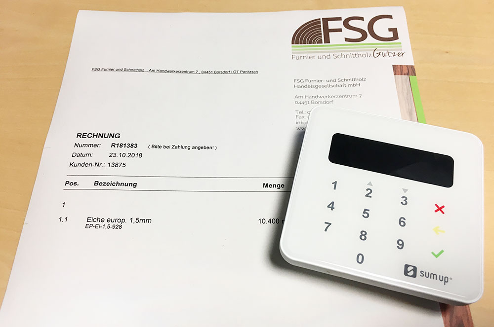 Ec Kartenzahlung.Fsg Furnier Und Schnittholz Handelsgesellschaft Mbh Der